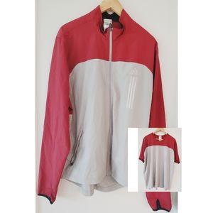 Adidas Set Jacket & Tees Climaproof Gray & Red XL